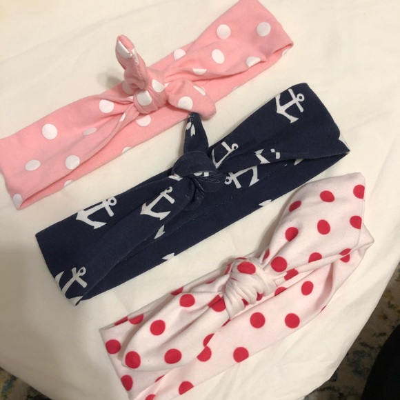 Other - Lot of 3 baby/toddler kerchief-style headbands